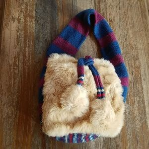 NWT Marc Jacobs fur knit shoulder bag